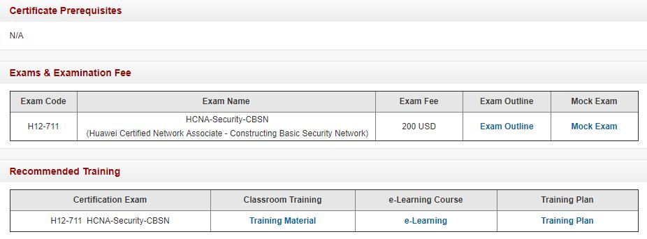 Huawei HCNA-Security Certification Exam Detials
