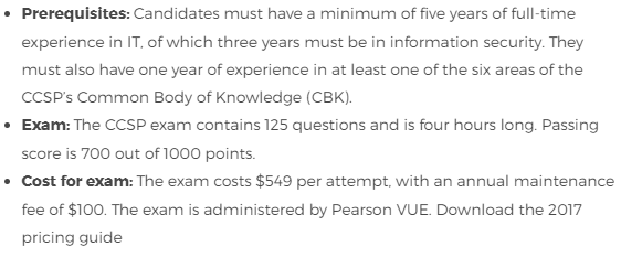 CCSP Exam Details