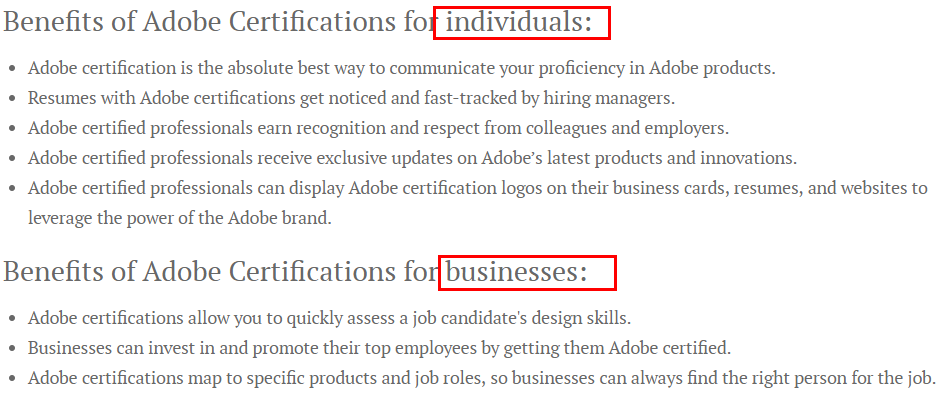 Benefits of Adobe Certifications