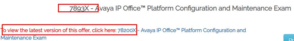 Avaya 78200X Exam Details