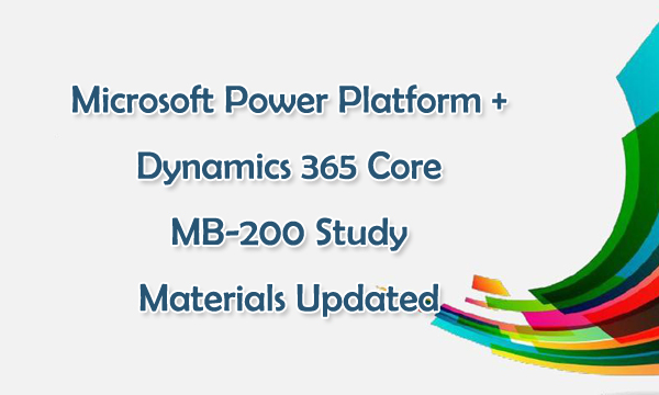 Microsoft MB-200 Practice Questions