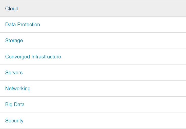 DELL EMC Categories
