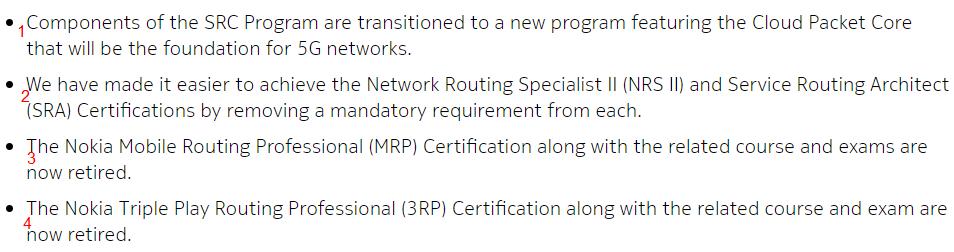 SRC Program Changed