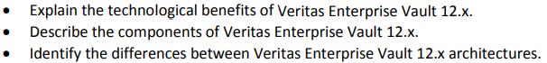 Veritas VCS-322 Exam Section 1