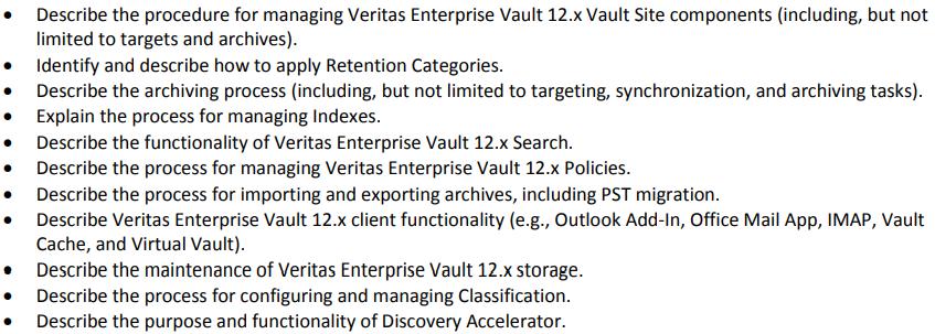 Veritas VCS-322 Exam Section 3