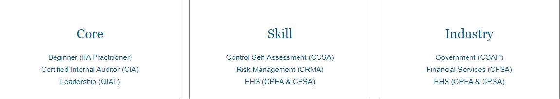 IIA Certification Suite 2020