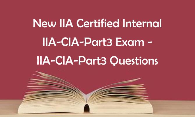2020 Killtest IIA-CIA-Part3 Questions