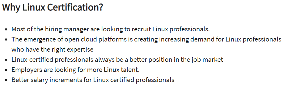 Why Linux Certification
