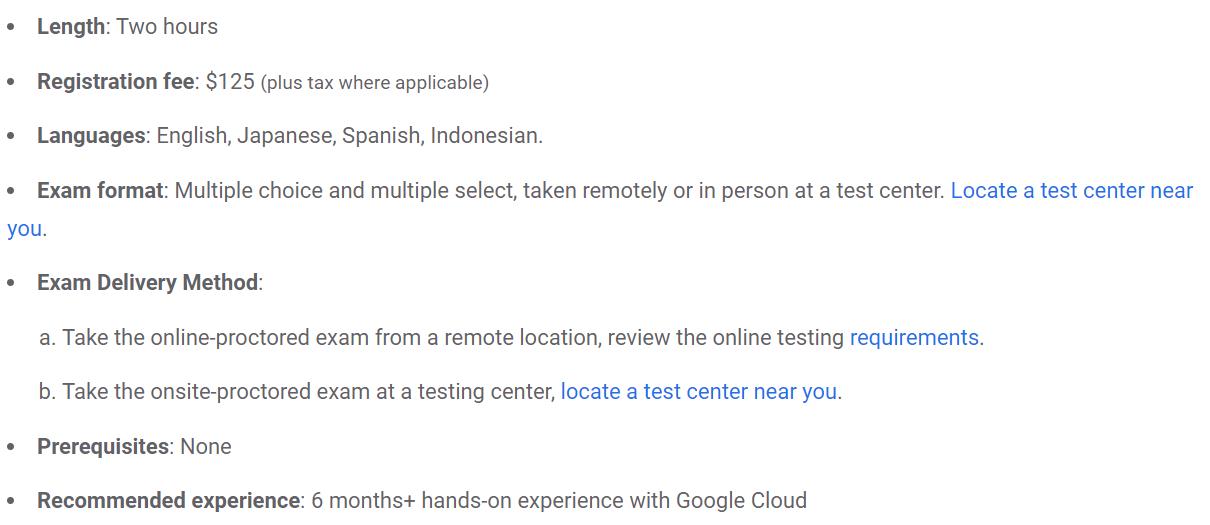 About The Associate Cloud Engineer Exam