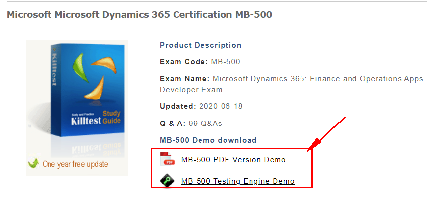 Check MB-500 Free Demo Questions Online