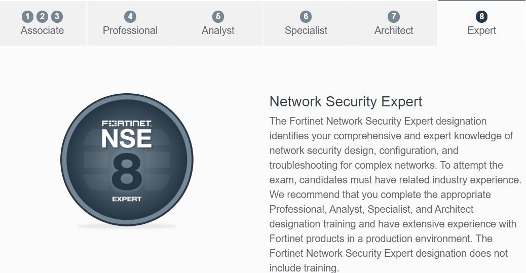 Fortinet NSE Certification Program