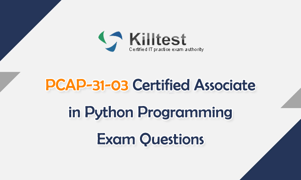 PCAP-31-03 Certified Associate in Python Programming Exam Questions