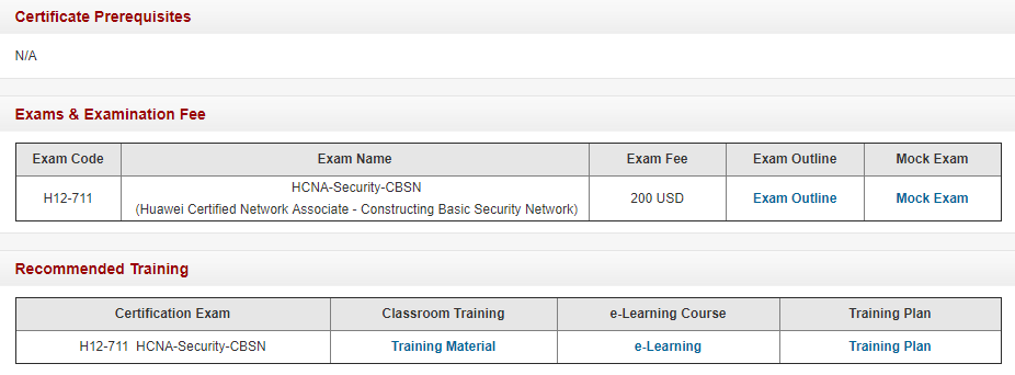 Huawei HCNA-Security Certification Exam Detials