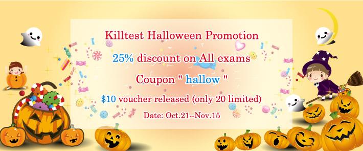 Killtest 25% OFF For Halloween Promotion