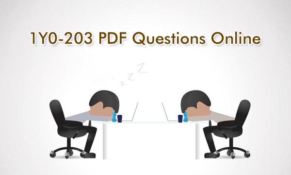 1Y0-203 PDF Questions Online Killtest