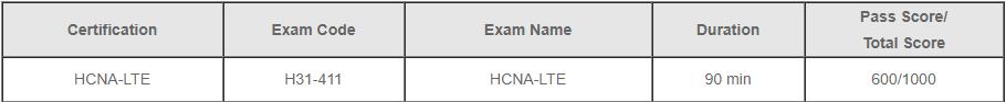 Huawei HCNA-LTE Exam