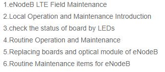 OEB82 eNodeB Field Maintenance