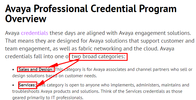 Avaya Certifications