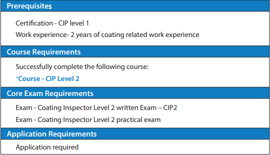 NACE-CIP2-001 Exam Requirement