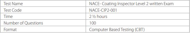 NACE-CIP2-001 Exam Outline