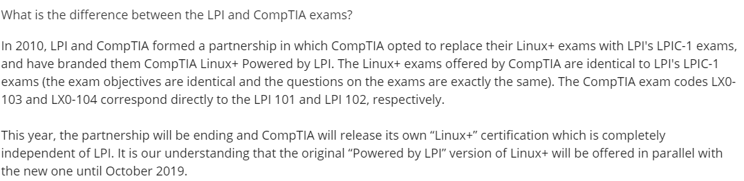 What is the difference between Lpi and CompTIA